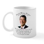 Reagan 9 Terrifying Words Mug