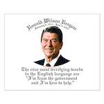 Reagan 9 Terrifying Words Small Poster