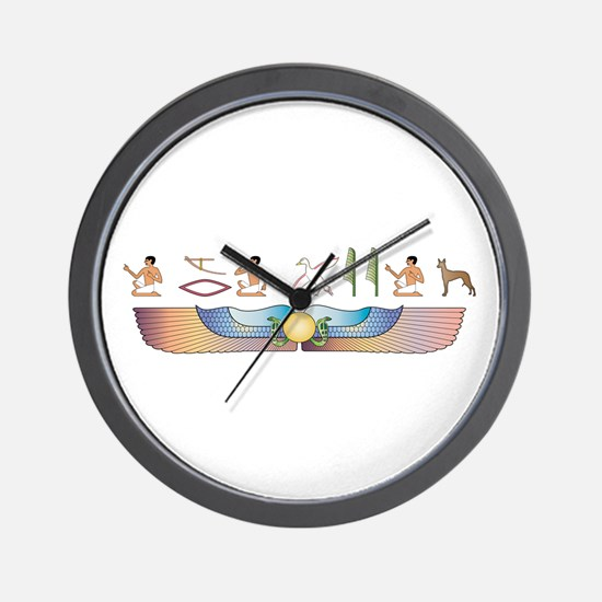 Pharaoh Hieroglyphs Wall Clock