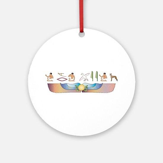 Pharaoh Hieroglyphs Ornament (Round)