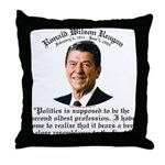 Reagan 2nd Oldest Profession Throw Pillow
