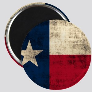 Grunge Texas Flag Magnets