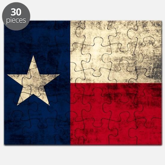 Grunge Texas Flag Puzzle