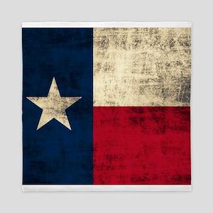 Grunge Texas Flag Queen Duvet