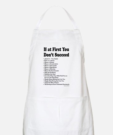 If at First... BBQ Apron
