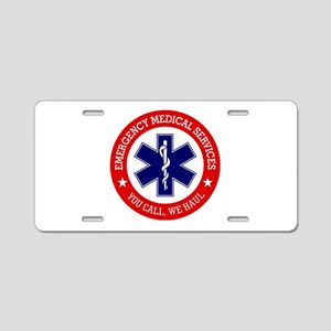 EMS (You Call, We Haul) Aluminum License Plate