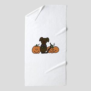 Halloween Dog Beach Towel