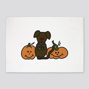 Halloween Dog 5'x7'Area Rug