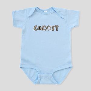 Coexist With Dinosaurs Baby Light Bodysuit