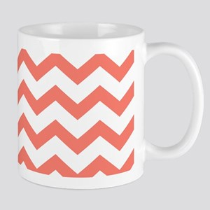 Coral Chevron Stripes Mugs