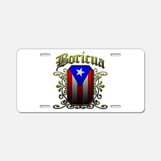 Boricua Aluminum License Plate