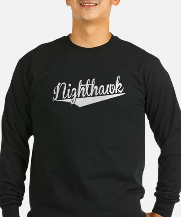 Nighthawk, Retro, Long Sleeve T-Shirt