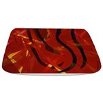 Heart of Fire Abstract Bathmat