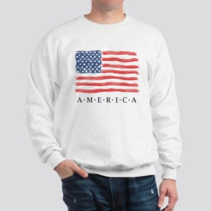 4th of July American flag Sweatshirt