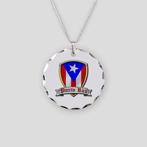 Puerto Rico - Shield2 Necklace Circle Charm