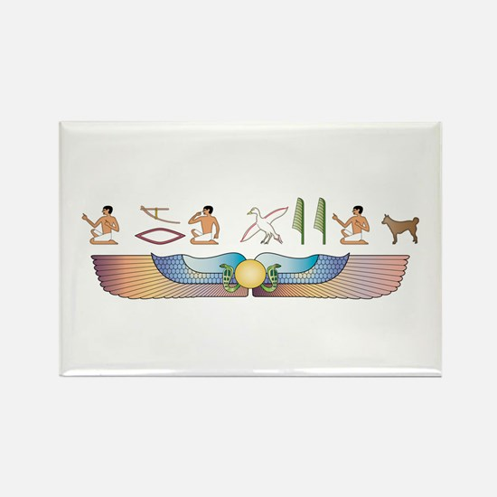 Lundehund Hieroglyphs Rectangle Magnet (10 pack)