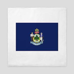 Maine Flag Queen Duvet