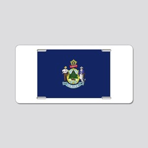 Maine Flag Aluminum License Plate