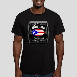 Boricua 100 Proof Men's Fitted T-Shirt (dark)