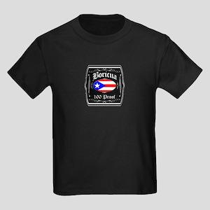 Boricua 100 Proof Kids Dark T-Shirt