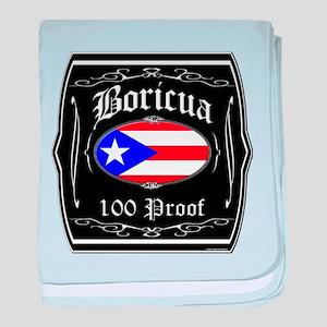 Boricua 100 Proof baby blanket