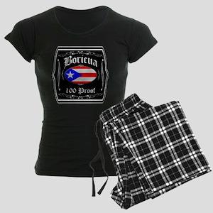 Boricua 100 Proof Women's Dark Pajamas