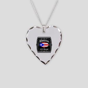 Boricua 100 Proof Necklace Heart Charm