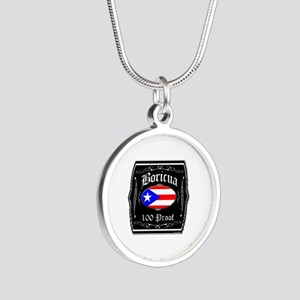 Boricua 100 Proof Silver Round Necklace