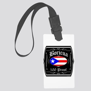 Boricua 100 Proof Large Luggage Tag