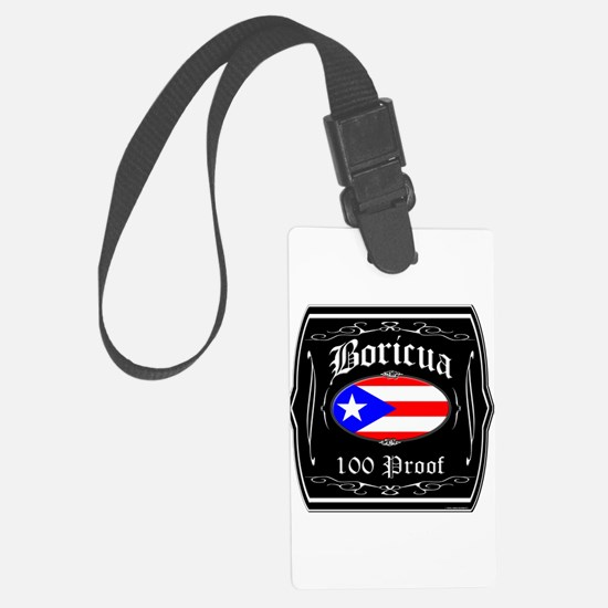Boricua 100 Proof Luggage Tag