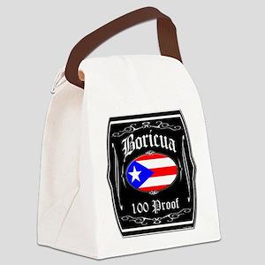Boricua 100 Proof Canvas Lunch Bag