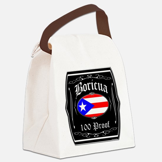 Boricua 100 Proof Canvas Lunch Bag