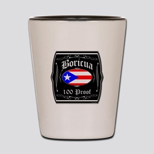 Boricua 100 Proof Shot Glass