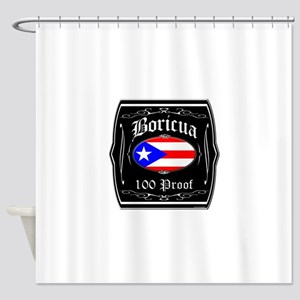 Boricua 100 Proof Shower Curtain