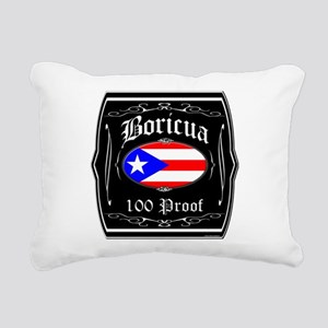Boricua 100 Proof Rectangular Canvas Pillow