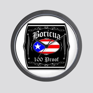 Boricua 100 Proof Wall Clock
