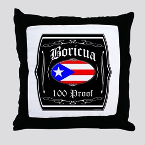 Boricua 100 Proof Throw Pillow