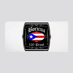 Boricua 100 Proof Beach Towel