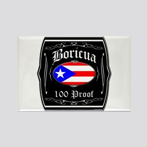 Boricua 100 Proof Rectangle Magnet