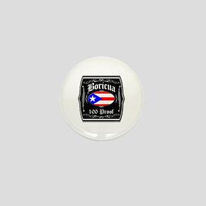 Boricua 100 Proof Mini Button
