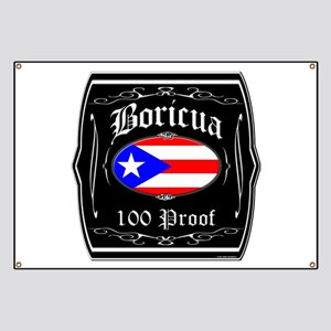 Boricua 100 Proof Banner