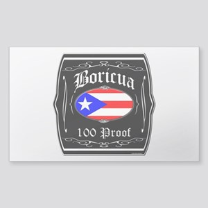 Boricua 100 Proof Sticker (Rectangle)