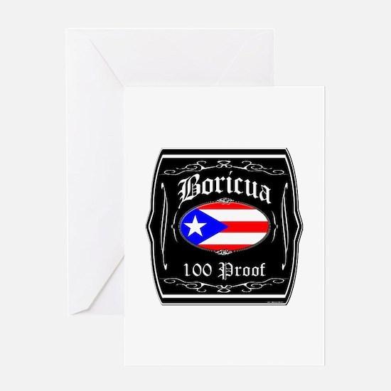 Boricua 100 Proof Greeting Card
