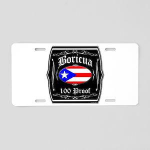 Boricua 100 Proof Aluminum License Plate