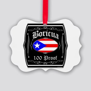 Boricua 100 Proof Picture Ornament