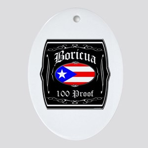 Boricua 100 Proof Ornament (Oval)