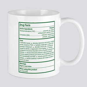 THC Drug Facts Large Mugs