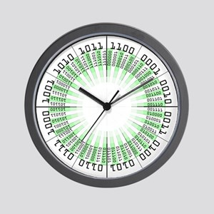 Binary Modern Clock Wall Clock