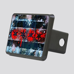 Chicago Flag Spray Paint Art Hitch Cover