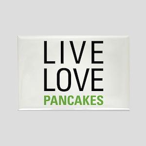 Live Love Pancakes Rectangle Magnet